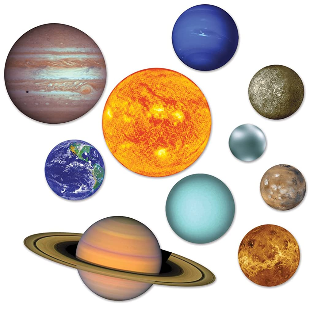 10 Piece Double Sided Solar System Cutouts Decorations qboxojh58749869