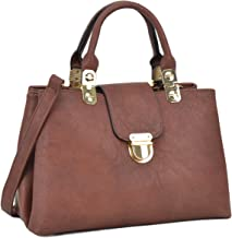 Dasein Women Satchel Handbags Top Handle Purse Medium Tote Bag Vegan Leather Shoulder Bag