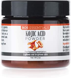 100% Pure Kojic Acid Powder | LIGHTENS & BRIGHTENS SKIN | For sun spots, age spots, melasma & discoloration | LARGE 2OZ JAR