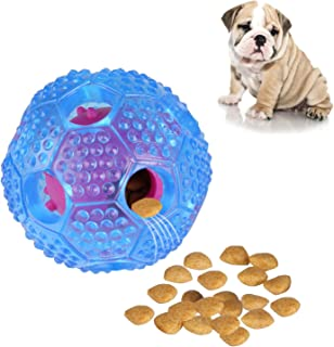 RENZCHU Interactive Dog Toy, IQ Treat Ball Food Dispensing Toys for Small Medium Large Dogs Durable Chew Ball, Nontoxic Rubber and Bouncy Dog Ball, Cleans Teeth