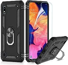 LeYi Cover per Samsung Galaxy A10 Custodia, 360° Ring Difesa Militare Bumper TPU Case Magnetica Silicone Custodie con HD Pellicola per Samsung Galaxy A10 / M10 Case Nero