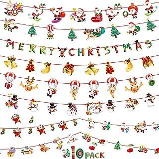 YJZQ 23 St/ück Weihnachten Girlande Banner Konfetti Ballon Set Merry Christmas Frohe Weihnachten Dekorationen 12 Zoll Glitter Ballon Farben Luftballon Wimpelkette Set Fest Party Dekoration