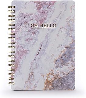 "Tri-Coastal Design – Spiralbunden anteckningsbok med hårt omslag tillverkad av återvunnet material med omslagsdesign ""Oh H..."