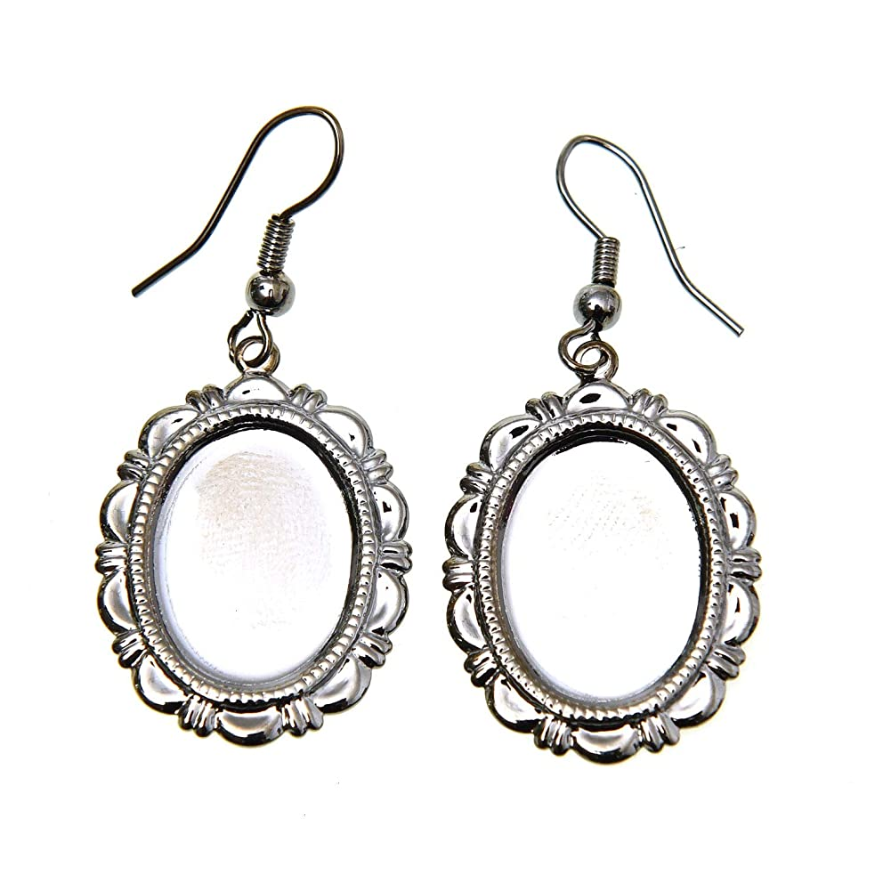 Monrocco 10 Pair Earring Bezels Wire Hooks Setting for Jewelry Making and Earring Findings and DIY,Crafts