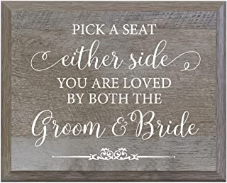 pick a seat sign for wedding