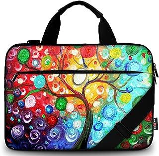 AUPET 11 11.6 12 12.5 12.9 13-13.3 inch Canvas Laptop Sleeve Bag Carrying Messenger Bag Briefcase with Handle and Adjustable Shoulder Strap & External Side Pocket,For ASUS/HP/DELL/Acer (Tree)