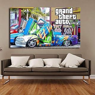 CAPTIVATE HEART Toile Tableau 40x60cm sans Cadre GTA 5 San Andreas Affiche Vintage Imprime des Images pour la d/écoration de la Chambre peintures /à lhuile /à la Maison