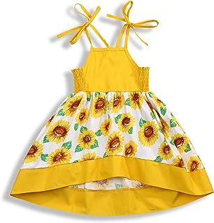 86589cce77f ZOELNIC Baby Girls Rainbow Dress Toddler Princess Sleeveless Halter Beach  Tutu Sundress