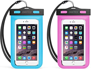 Universal Waterproof Case, CHOETECH 2Pack Clear Transparent Cellphone Waterproof, Dustproof Dry Bag with Neck Strap for iP...