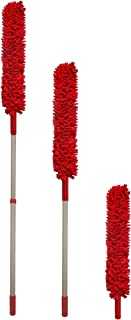 Extendable Microfiber Cleaning Duster, Red, Dust Collector and Cleaner