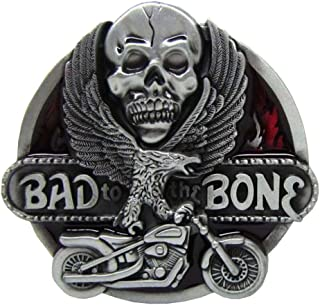 """Lovoski Funny"""" Bad To The"""" Belt Buckle Western Novelty Clothing Classic Biker"""