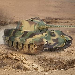 Tanktoyd High Simulated Heng Long 3888A-1 2.4GHz 1/16 Escala German King Tiger Henschel RC Modelo Tank Toy Car Recargable Stunt Racing Tanque de Control Remoto