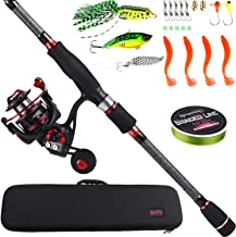 Sougayilang Telescopic Fishing Rod and Reel Combos with Lightweight 24-Ton Graphite Rod..