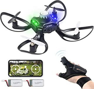 Andals 2019 Newest Gesture Control Drone 2.4G 6 Axis 480 HD FPV Camera Mini RC Quadcopter with Altitude Hold, Gravity Sensor Function Outdoor Fly Freely Gesture & APP Control Drone for Kids