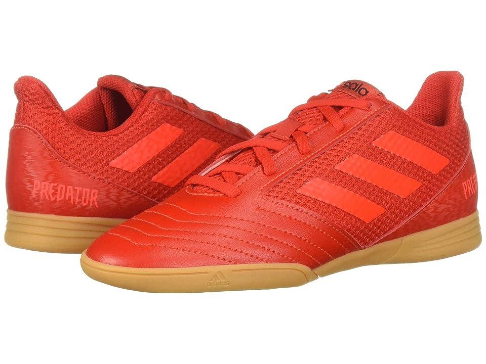 adidas Kids Predator 19.4 IN Sala Soccer (Little Kid/Big Kid) (Active Red/Solar Red/Black) Kids Shoes