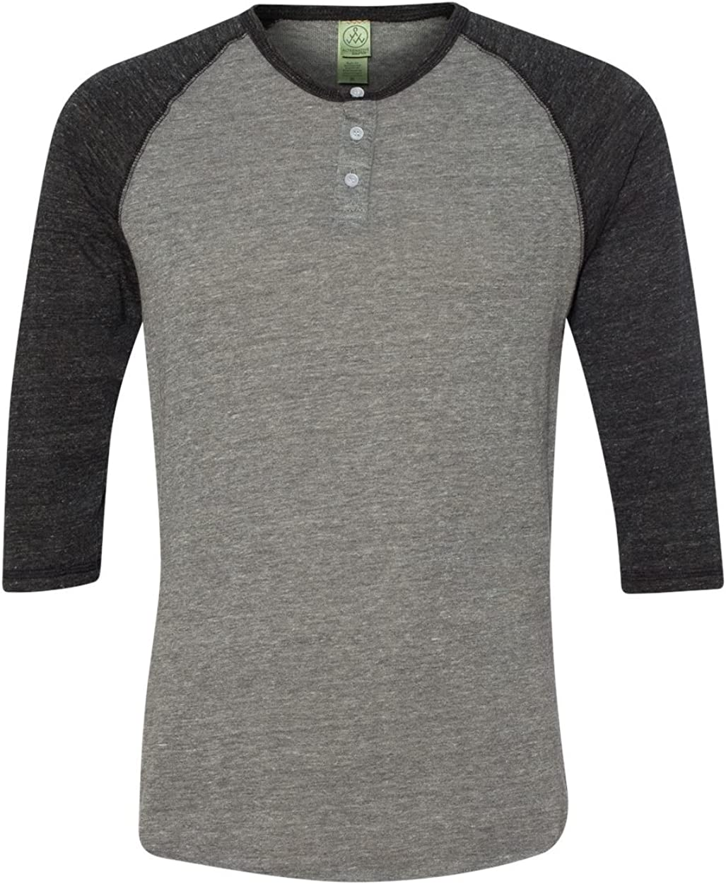 Alternative Men's Raglan Three-Quarter Henley Ranking TOP13 Rapid rise Sleeve Shirt