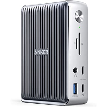 Anker Docking Station, PowerExpand Elite 13-in-1 Thunderbolt 3 Dock for USB-C Laptops, 85W Charging for Laptop, 18W Charging for Phone, 4K HDMI, 1Gbps Ethernet, Audio, USB-A Gen 1, USB-C Gen 2, SD 4.0