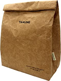 TANUMI Reusable Brown Paper Insulated Lunch Bags for Snacks, Tearproof Lightweight Eco-Friendly Thermal Lunchbag for Lunchbox, Sandwiches or Fruits, Tyvek 1 Pack