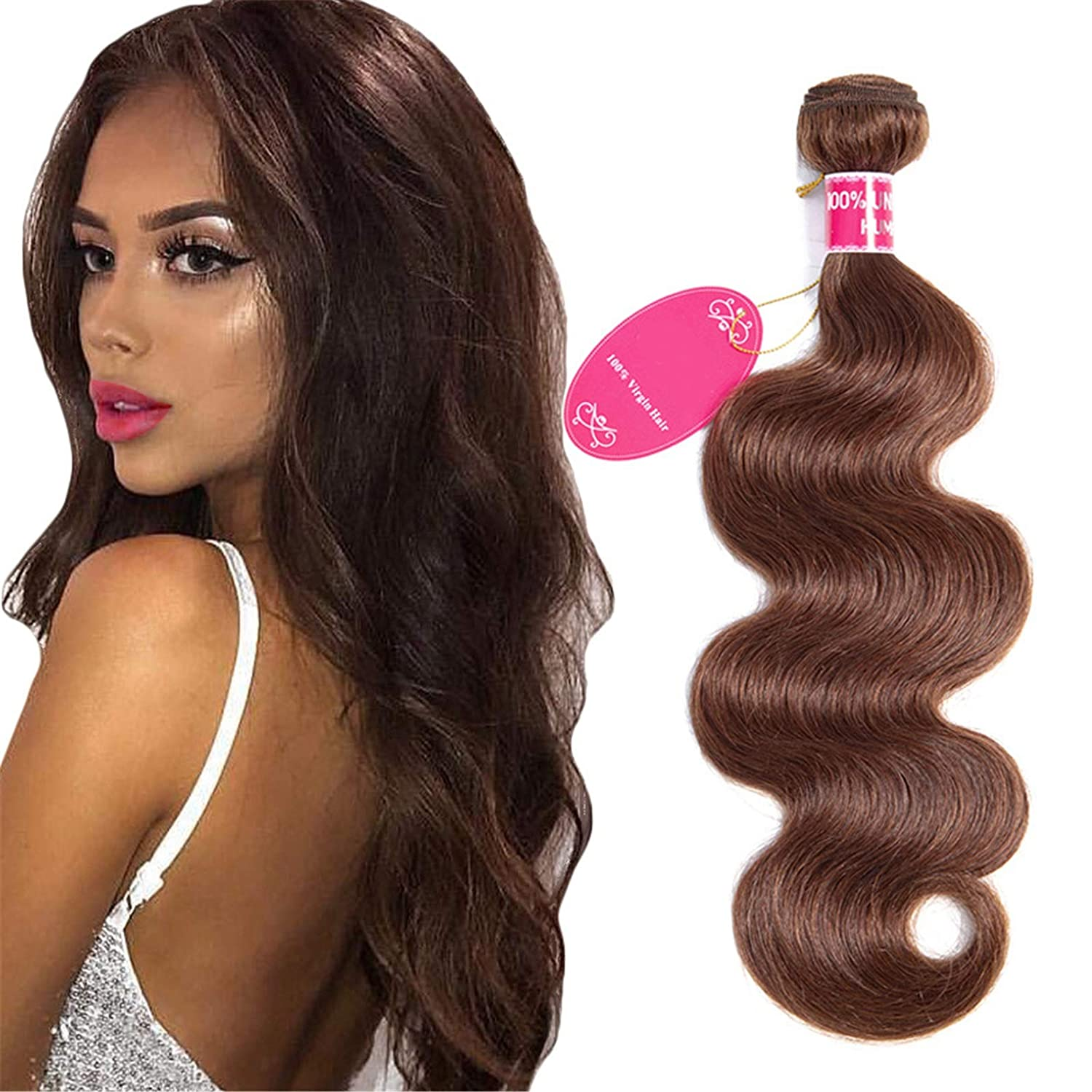 QAZPL Body Weave 3PCS Virgin Human Hair 2021 service spring and summer new In Wig Women For 8-26