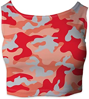 Rainbow Rules Colored Camouflage Sleeveless Crop Top