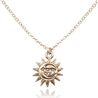 Best moon and sun gold necklace Reviews