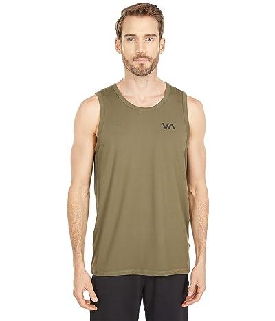 RVCA Sport Vent Tank (Olive) Men