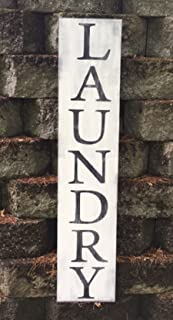 Laundry Sign - Laundry Wooden Sign - Farmhouse Style- Vertical Laundry Sign