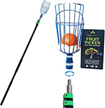 EVERSPROUT 25-Foot Fruit Picker (30+ Foot Reach) | Preassembled, Easy-to-Attach Twist On Basket Design | Heavy-Duty, High-Grade Aluminum Extension Pole | +Bonus Fruit Carrying Bag (1)