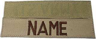 Custom ACU Multicam Black ABU .., US ARMY USAF USMC, Name Tape or Branch Tape, with Fastener or Sew-On (With Fastener, DESERT TAN)