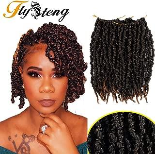 Flyteng spring twist crochet hair senegalese twist 12 inch spring twist hair crochet braids 15 strands/pack 6 Pack