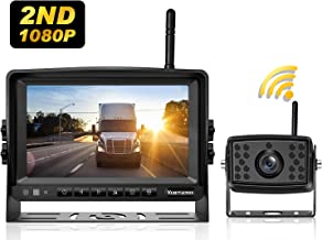 Wireless Backup Camera System with 7'' Monitor Reversing Camera for RV Truck Trailer Pickup Car Tractor,1080P Digital Rear View Backing IP69 Waterproof Guide Lines ON/Off Yuesem 2nd