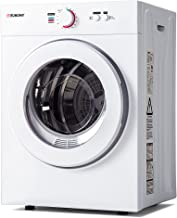 Euhomy Compact Laundry Dryer 1.8 cu.ft, Stainless Steel Clothes Dryers With Exhaust Pipe, Four-Function Portable Dryer For...