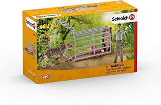Schleich Trap with Ranger Figurine Toy Play Set, Multicolor