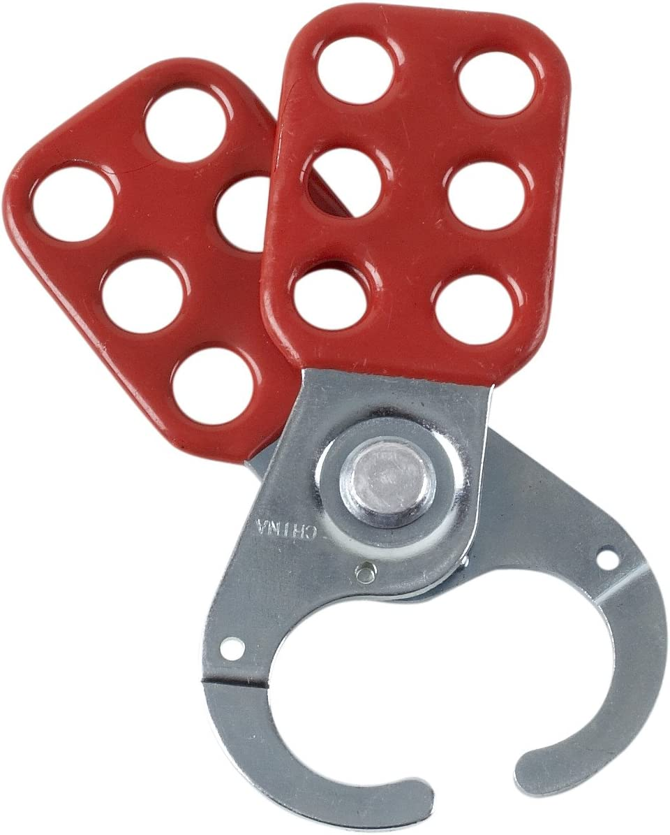 Brady 133161 Steel Group San Diego Mall Lockout Large discharge sale Each Red 1 Hasps
