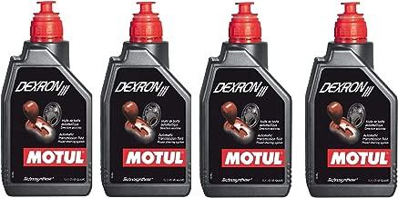 Motul 105776 Set of 4 Dexron III Automatic Transmission Fluid 1-Liter Bottles