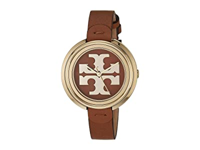 Tory Burch Miller Leather Watch (Brown) Watches