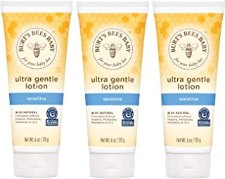 Burt's Bees Baby Ultra Gentle Lotion for Sensitive Skin - 6 Ounces - Pack of 3