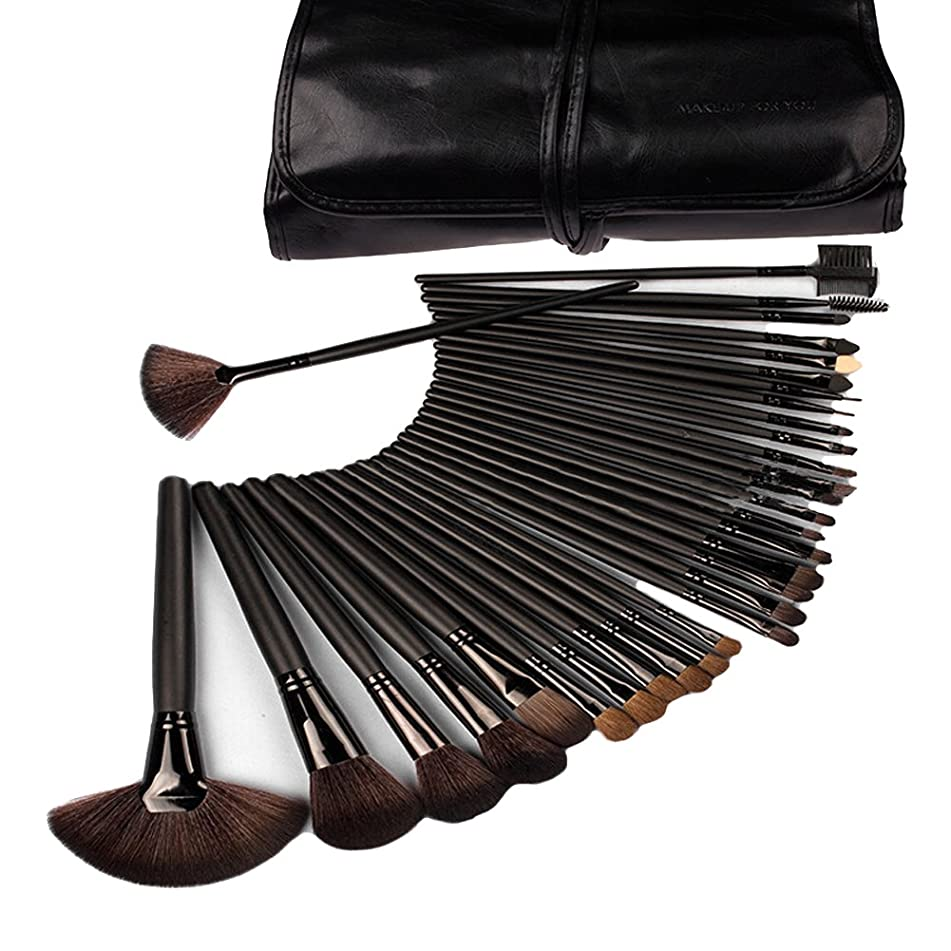 DRQ Makeup Brushes-Make Up Eye Shadow, Blush, Concealer Brush Set 32 Pieces Cosmetics Brushes Kit with make up case Pouch