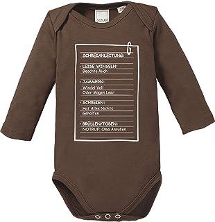 Ezyshirt Schreianleitung für Babys Baby Body Langarm Bio Baumwolle
