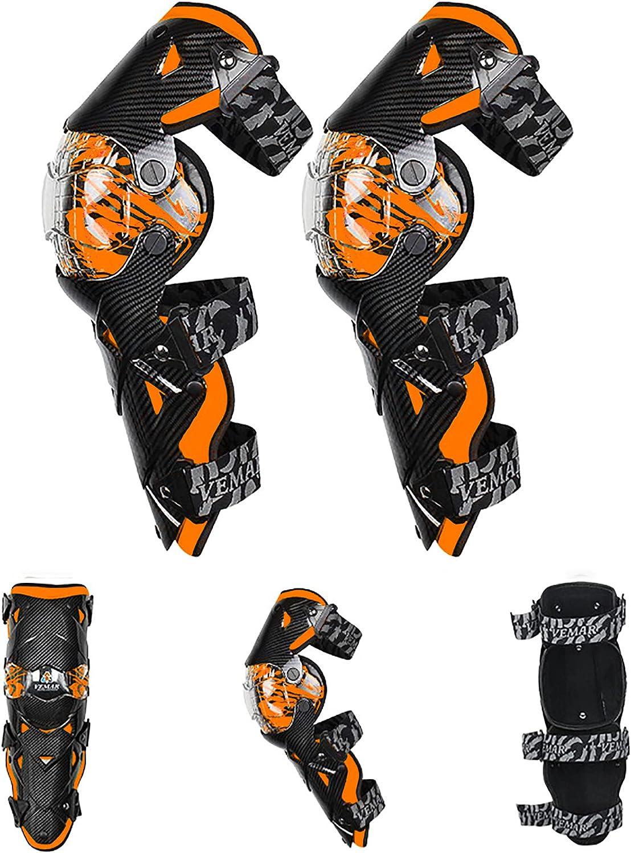 8 Farben VOMI Motorrad Knie Protektor Motocross Knieschoner Flexibel Kniesch/ützer MTB Knieschutz Knee Guard f/ür Enduro Race Fahrrad Skateboard Radrennen Ski Roll