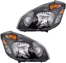 Halogen Combination Headlights Headlamps Pair Set Replacements for 04-09 Nissan Quest 260605Z026 260105Z026