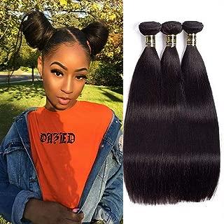 Uneed Hair 8A Straight Hair Bundles(20 22 24,300gram)Brazilian Hair Bundles Virgin Hair Bundle Deals Straight Human Hair Bundles Human Hair Extension Natural Color