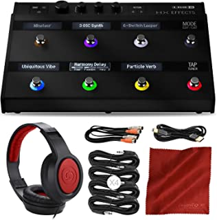 .Line 6 HX Effects Multi-Effects Pedal Bundle with Headphones and Assorted Cables