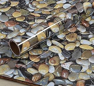 3D Cobblestone Adhesive Paper Vinyl Wrap Film Kitchen Countertop Peel Stick Wallpaper 15.8inch x79inch