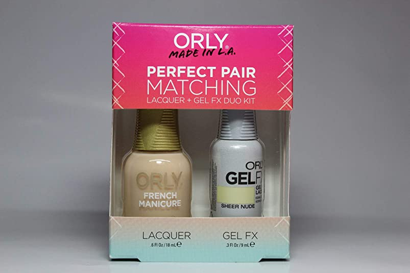 原理プロフィール晴れOrly - Perfect Pair Matching Lacquer+Gel FX Kit - Sheer Nude - 0.6 oz / 0.3 oz