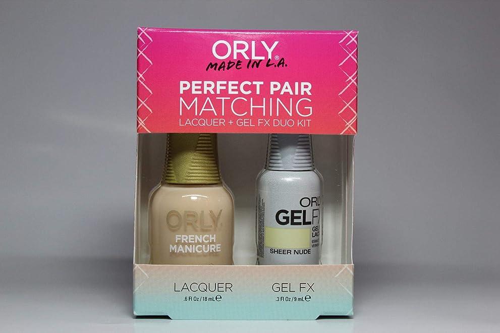 メッシュ彫刻理容師Orly - Perfect Pair Matching Lacquer+Gel FX Kit - Sheer Nude - 0.6 oz / 0.3 oz