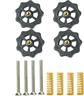 4PCS Upgraded Hand Twist Leveling Nut + 4PCS Hot Bed Spring + 4PCS M4X40mm Screws for Creality Ender 3,Ender 3 Pro,Ender 5,CR-10/10S,CR-10 Mini,CR-X,CR-20