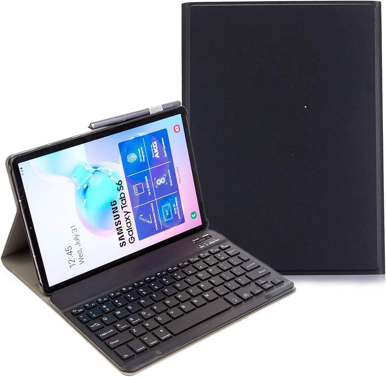 Galaxy Tab S6 10.5 2019 Keyboard Case T860 T865, Backlights Slim Shell Lightweight Magnetic Detachable Wireless Backlit Keyboard Cover for Samsung Galaxy Tab S6 10.5 Inch SM-T860 SM-T865 2019 - Black