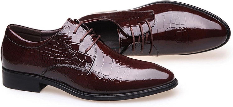 LEDLFIE Men's Leather shoes Business Dress Breathable Casual shoes