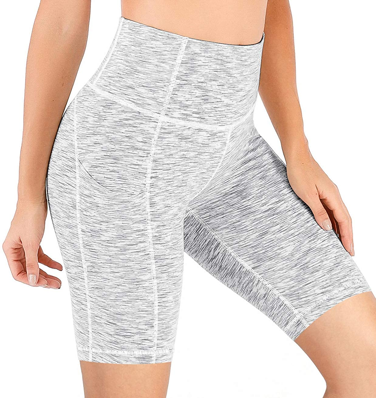 IUGA Workout Shorts for Women with Pockets 8//5 Biker Shorts for Women High Waisted Yoga Shorts Compression Running Shorts